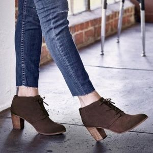 7cd009ab2e5 Toms · TOMS LUNATA BROWN WOOL   SUEDE LACE UP BOOTIES. NWT